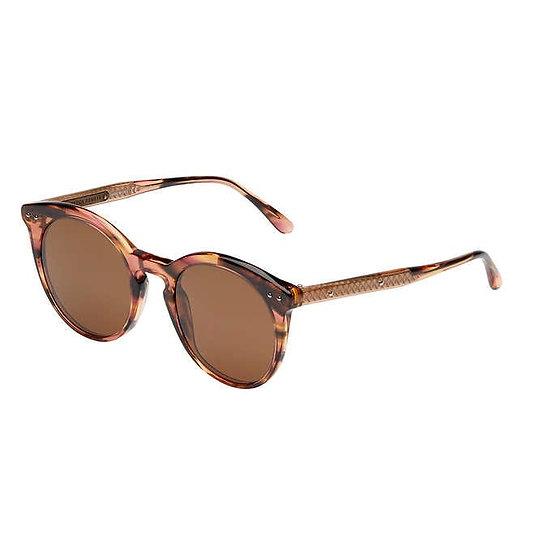 Bottega Veneta BV0096S Havana Copper Polarized Sunglasses, Women's