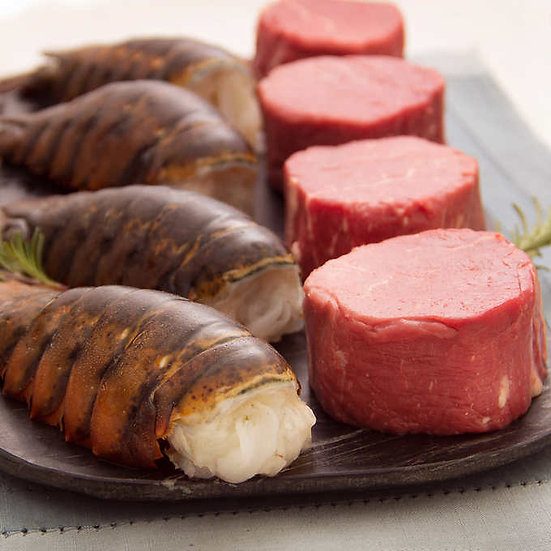 Rastelli Market Fresh Angus Beef Prime Petite Filet Mignons & Wild Caught Maine