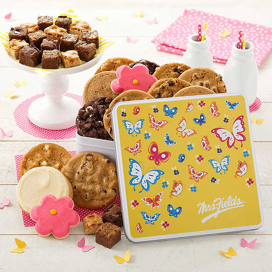 Mrs. Fields Butterfly Large Combo Tin