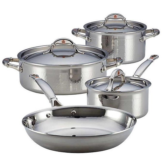 Ruffoni Symphonia Prima 7-piece Stainless Steel Cookware Set