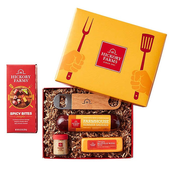 Hickory Farms Dad's Meat and Cheese BBQ Gift Box