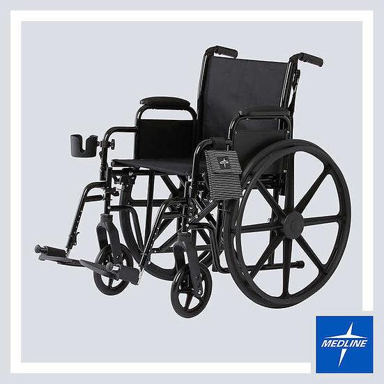 Mobility Plus Wheelchair by Medline, Black Frame