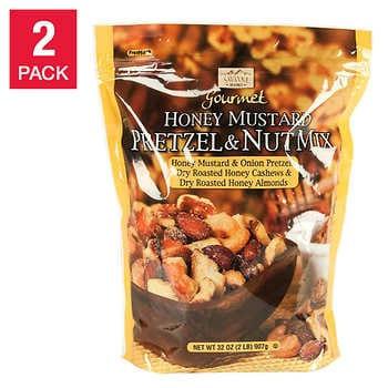 Savanna Orchards Gourmet Honey Mustard Pretzel & Nut Mix 32 oz, 2-count
