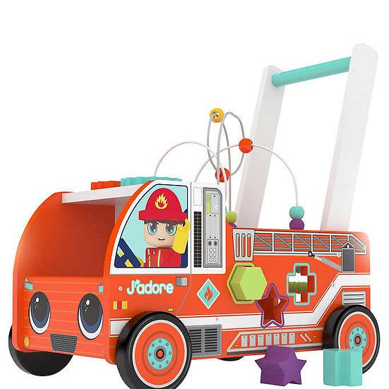 J'adore Wooden Firefighter Activity Walker