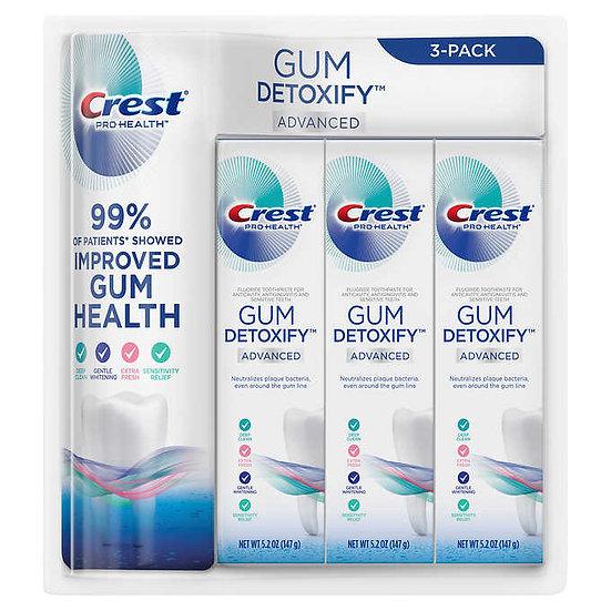 Crest Gum Detoxify Advanced Toothpaste, 5.2 oz, 3-pack