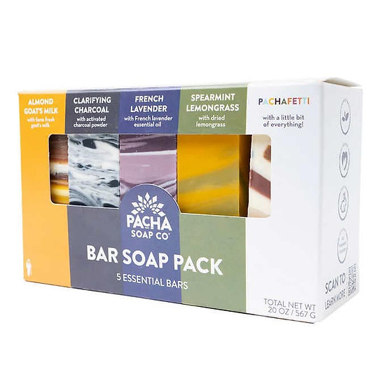 PACHA Bar Soap Variety 4 oz, 5-pack