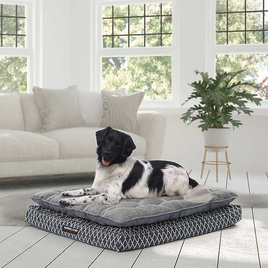 """Kirkland Signature 36"""" x 40"""" Pillow Top Orthopedic Dog Bed Gray"""