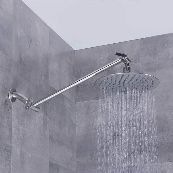 """AFA Stainless 8"""" Rain Shower Head With Extension Arm"""