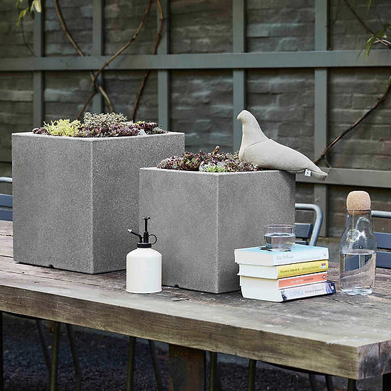 Floris Square Nested Planters by Capi, 2-pack