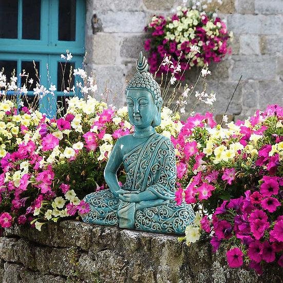 Ceramic Sitting Buddha Statue