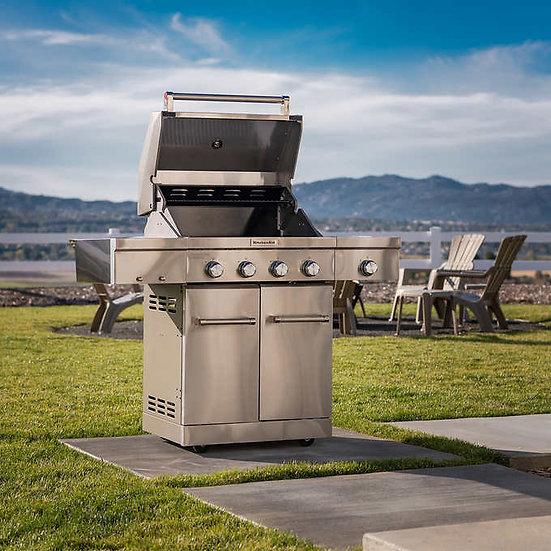 KitchenAid 4-burner Gas Grill with Side Burner