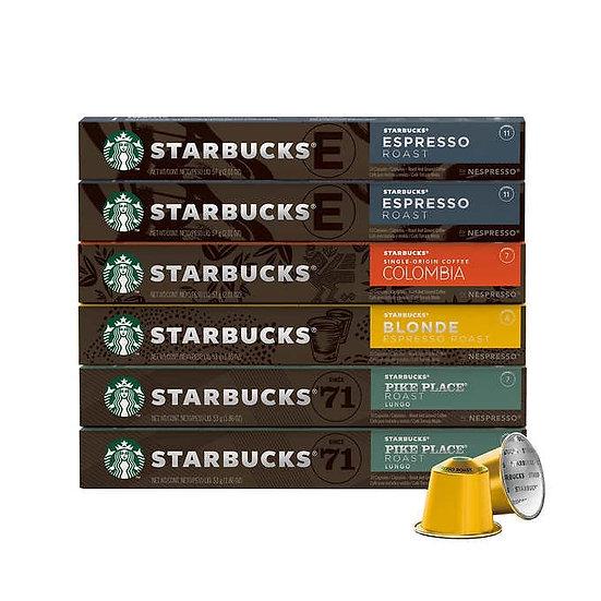 Starbucks by Nespresso Original Line Variety Pack Capsules, 60 Count