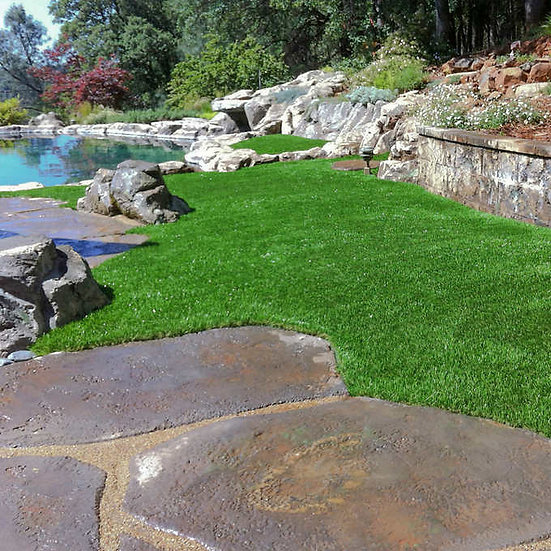 PreGra BlueGrass Artificial Grass, 15' Wide, in One Foot Increments