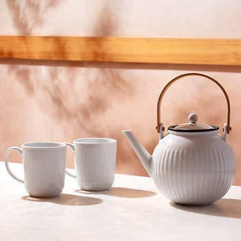 Bodum Douro Tea Press 51oz + 2 Douro Mugs 12 oz