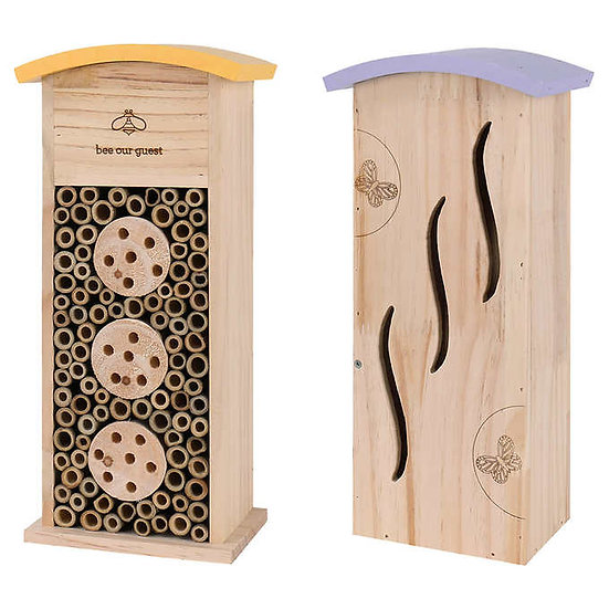 """14"""" Mason Bee & Butterfly Tower, 2-Pack"""