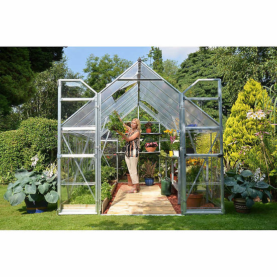 Palram Balance 8 ft. x 12 ft. Greenhouse, Aluminum Frame