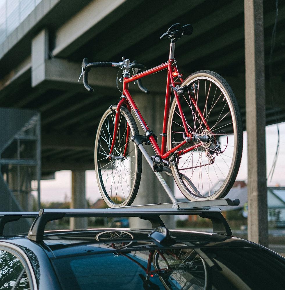 Bike and Bike Rack on a Car