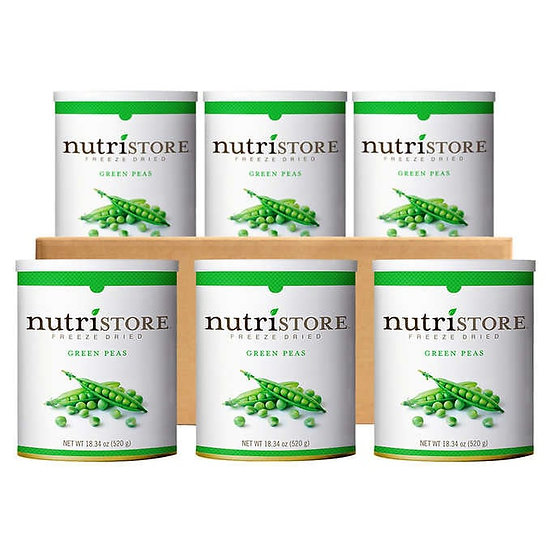 Nutristore Freeze Dried Peas 6-count