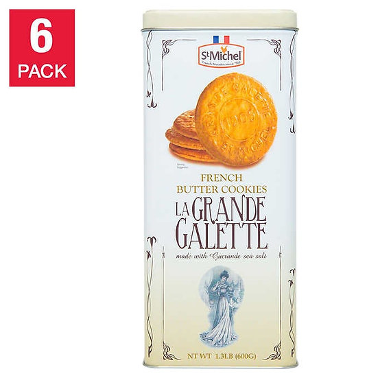 La Grande Galette French Butter Cookies, 1.3 lb, 6-pack