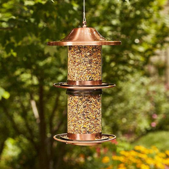 Copper Plated & Glass Bird Feeder