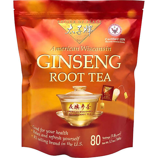 Prince Of Peace Ginseng Root Tea, 80-count