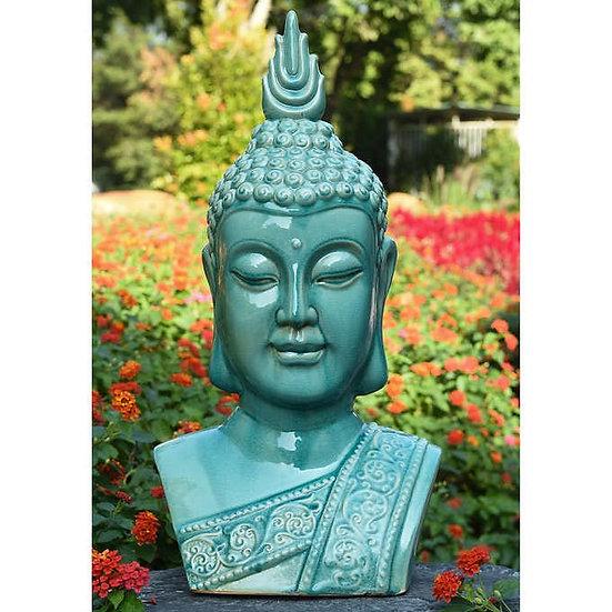 Ceramic Serene Buddha Head Statue
