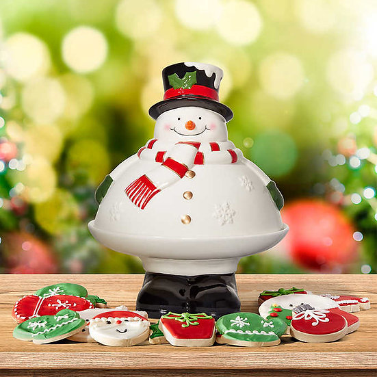 Snowman Holiday Cookie Tray, Christmas