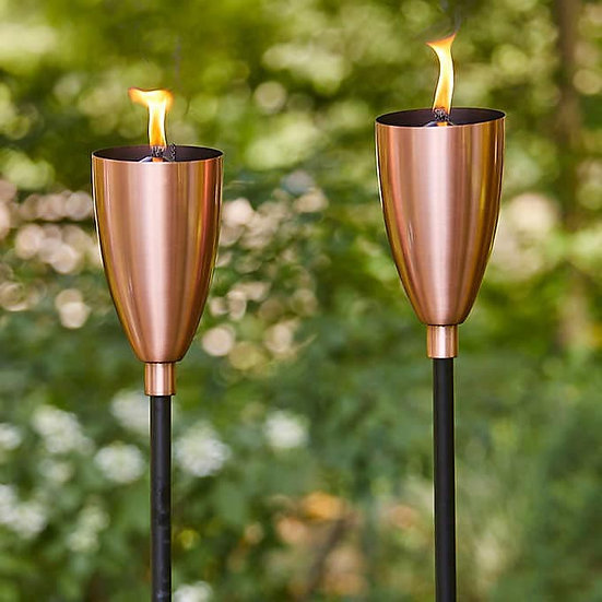 Copper Patio Torch, 2-pack