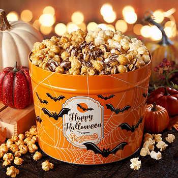 Popcornopolis 2 Gallon Halloween Bats Gourmet Popcorn Party Tin