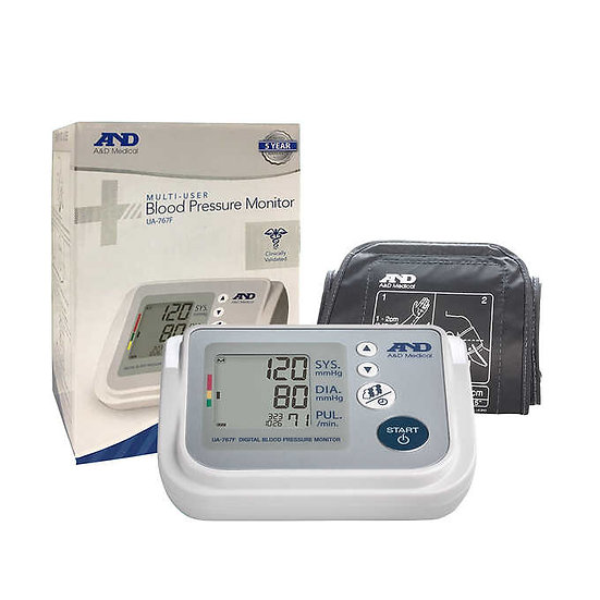 A&D Medical Upper Arm Blood Pressure Monitor with AccuFit Plus Cuff