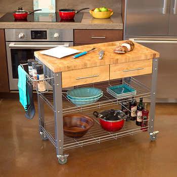 Chris & Chris Stainless Steel Kitchen Cart