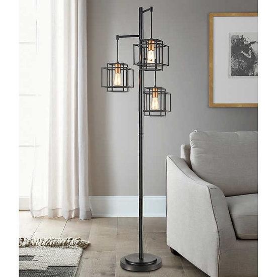 Kelsey Dual Square 3-Light Floor Lamp