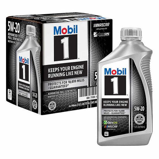 Mobil 1 Advanced Full Synthetic Motor Oil 5W-20, 1- Quart/6-Pack