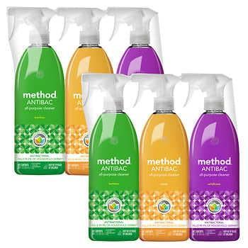Method Antibac All-Purpose Cleaner, Variety Pack, 28 fl oz, 3-count, 2-pack