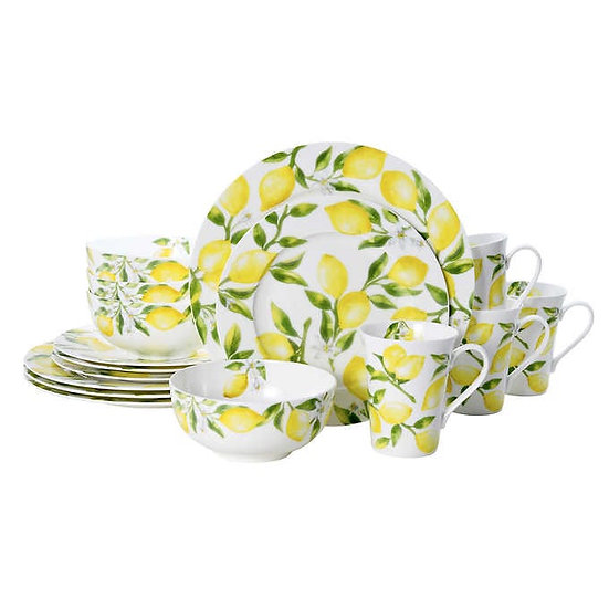 Mikasa Lemons 16-piece Bone China Dinnerware set