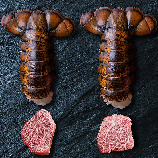 A5 Wagyu Surf & Turf Pack, Cold Water Lobster Tails and Japanese A5 Wagyu Filet