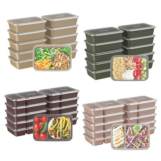 Bentgo Combo Meal Prep Containers, 40-pack with Lids