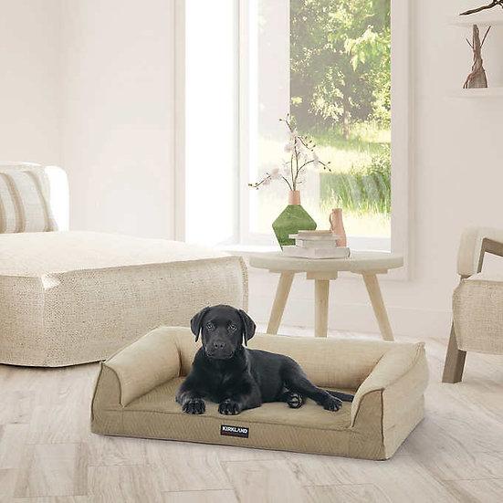 """Kirkland Signature 24"""" x 36"""" Medium Dog Sofa Bed, Brown"""