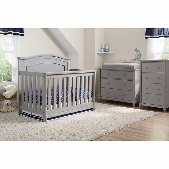 Simmons Kids Sophia 3-piece Nursery Furniture Set - Gray