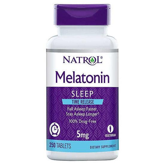 Natrol Melatonin Time Release 5 mg., 250 Tablets