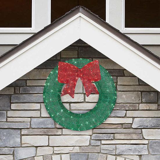 "36"" LED Glitter Wreath, Christmas"