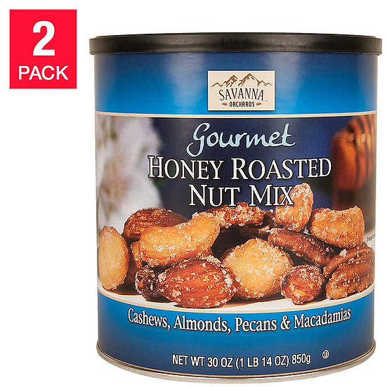 Savanna Honey Roasted Mix Nuts, 30 oz, 2-pack