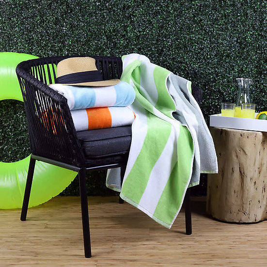 Freshee 3pk Cabana Stripe Beach Towel