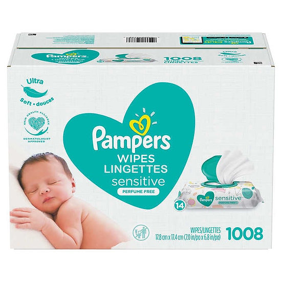 Pampers Sensitive Wipes, 1008-count
