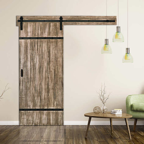 Renin Authentic Barn Door with Hardware Kit & Easy Glide Soft-close