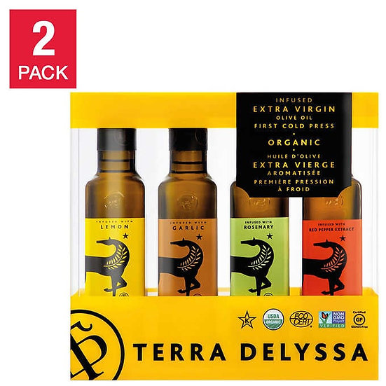 Terra Delyssa USDA Organic Extra Virgin Olive Oil Infused 8.5oz Assorted Flavors