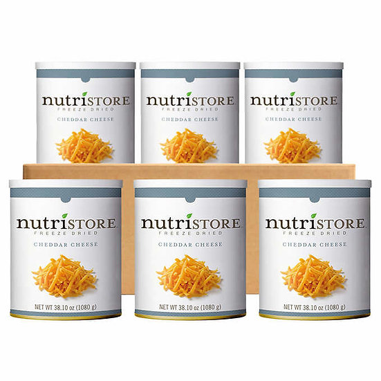 Nutristore Freeze Dried Shredded Cheddar Cheese 6-count