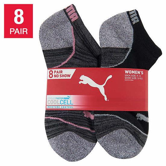 Puma Ladies' No Show Sock 8-pair