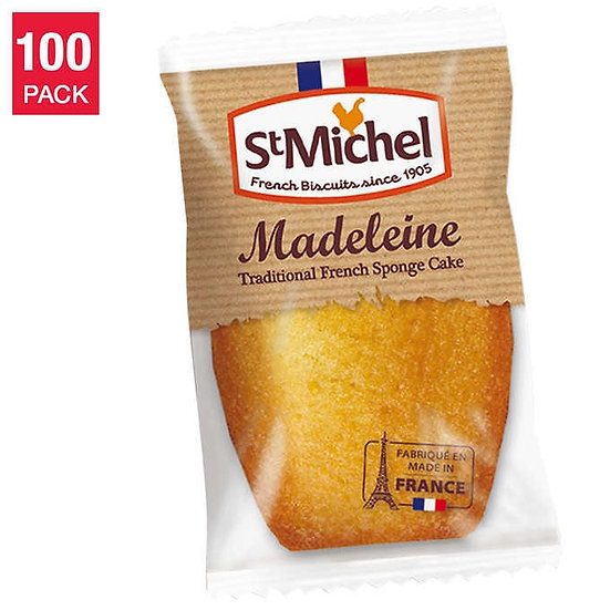 St Michel Madeleine, Classic French Sponge Cake 100 - count