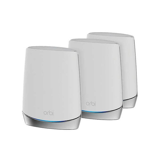 NETGEAR Orbi RBK753S AX4200 Wi-Fi 6 Mesh Router with Two Satellite Extenders